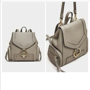 Zara Bags - ZARA GREY BACKPACK WITH FRONT RING